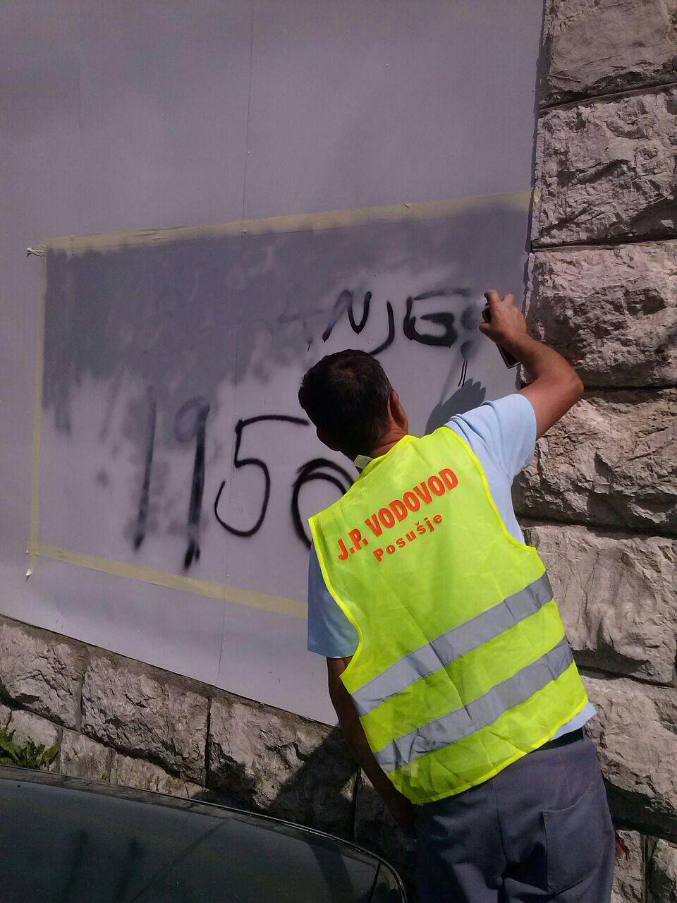 NOVA DEVASTACIJA U SREDIŠTU GRADA: Šarali grafitima po privatnom objektu