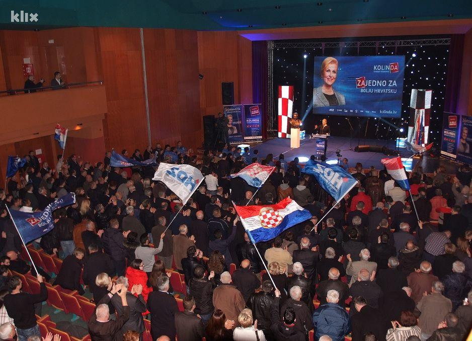 FOTO: Veličanstveni predizborni skup Kolinde Grabar Kitarović u Mostaru