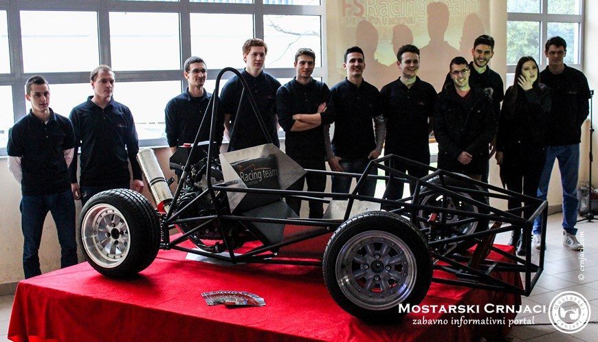 Studenti iz Mostara predstavili trkaći bolid koji su sami izradili