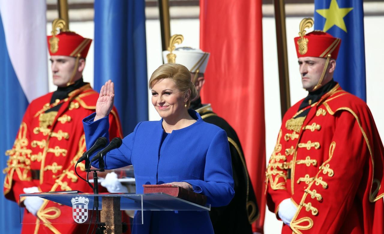 Sa suzom u očima Kolinda Grabar Kitarović prisegnula za Predsjednicu Republike Hrvatske