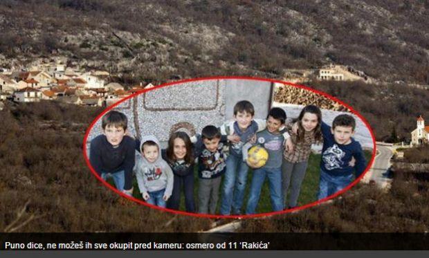 U Rakićima od 22 stanovnika – jedanaestero djece