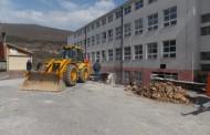 Početak rekonstrukcije prilaznog školskog stepeništa