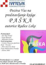 Najava: Predstavljanje knjige Paška, autorice Radice Leko
