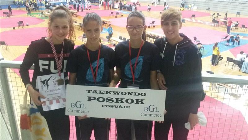 TAEKWONDO: Mihaela Senjak i Ivona Galić nastupile na Croatia open 2015.