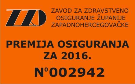 ZZO ŽZH – Markice za 2016. godinu u prodaji od 15. prosinca 2015.godine