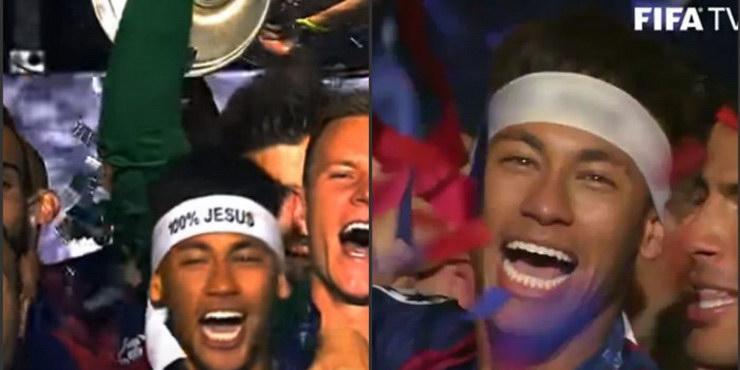 FIFA cenzurirala Neymara: Izbrisali natpis '100 % Isus' s trake na njegovoj glavi