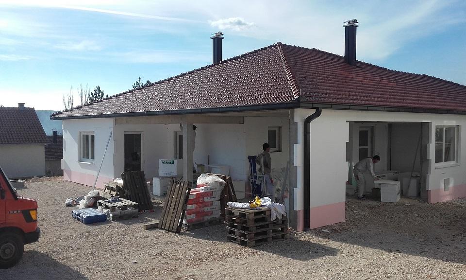 FOTO: Izgradnja kuće obitelji Petričušić u završnoj fazi