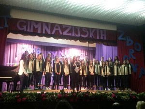 """Nastup gimnazijskog zbora """"Grgur Posuški"""" u Livnu"""