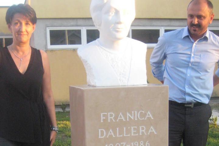 Foto: Otkrivena bista Franici Dall'era u Viru