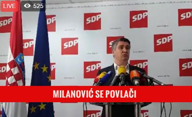 Šesti uzastopni poraz od HDZ-a natjerao Milanovića na povlačenje s mjesta predsjednika SDP-a