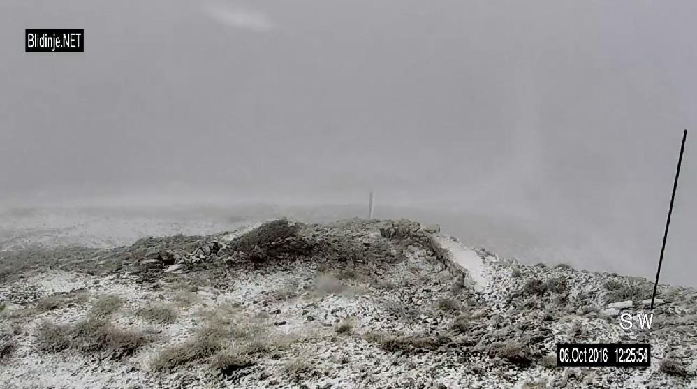 Na Blidinju zalepršale prve pahulje snijega
