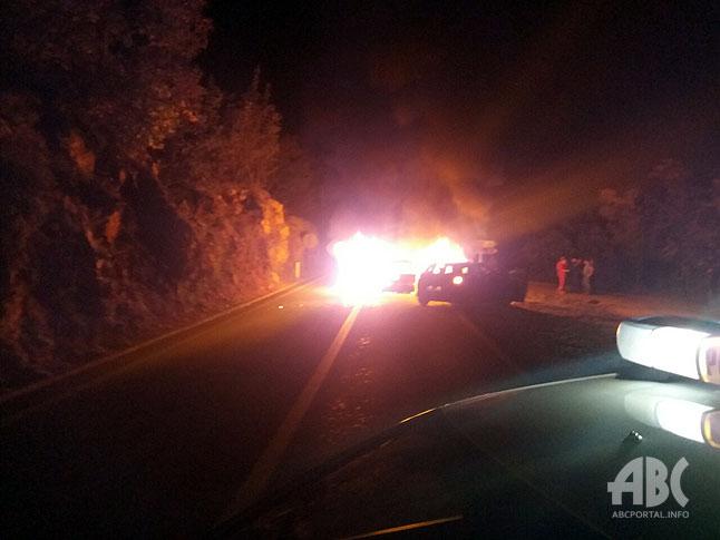 Teška prometna nesreća na cesti Široki Brijeg – Posušje, nakon sudara zapalilo se vozilo