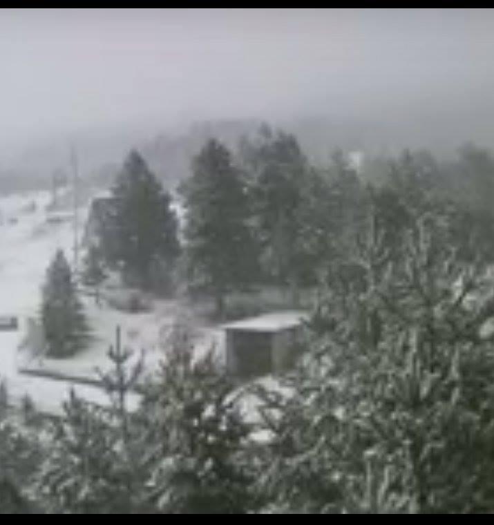 Na Blidinju pada snijeg