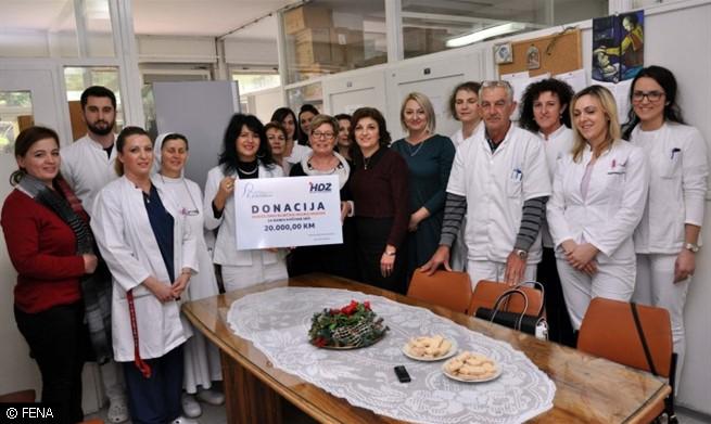 Zajednica žena HDZ-a BiH donirala 20.000 KM mostarskoj bolnici