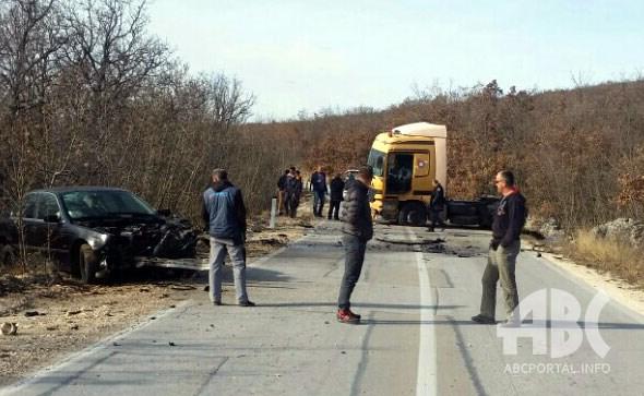 Teža prometna nesreća kod tvrtke Lončar plast u Posušju