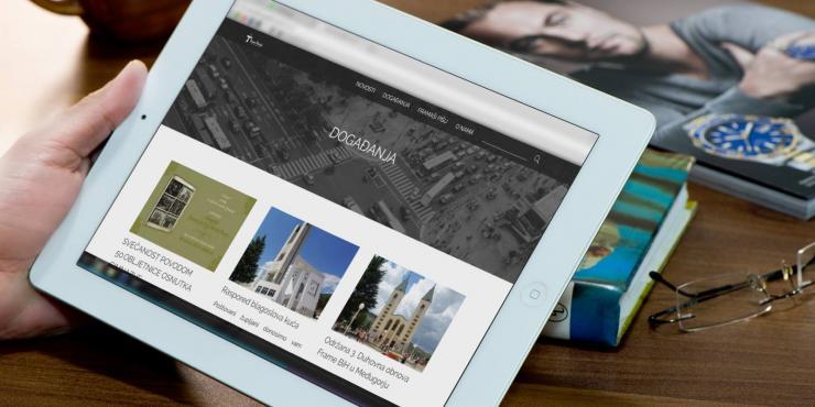 Novi izgled web stranice frame Posušje