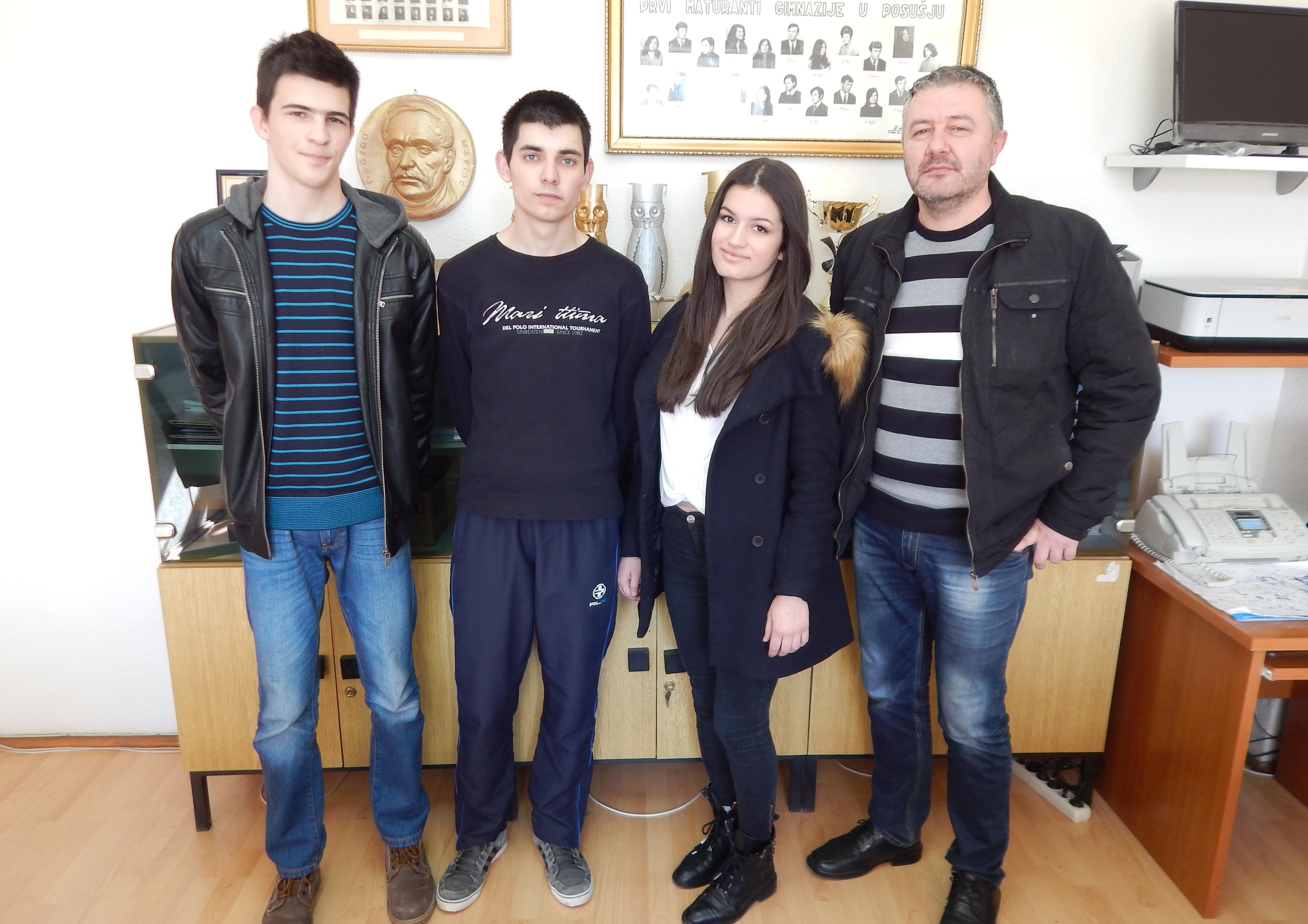Ante Čutura i Silvana Bakula pobjednici školskog natjecanja Kviz znanja iz opće kulture