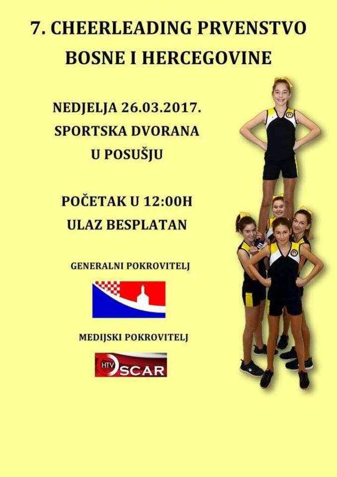 U nedjelju državno cheerleading prvenstvo u Posušju