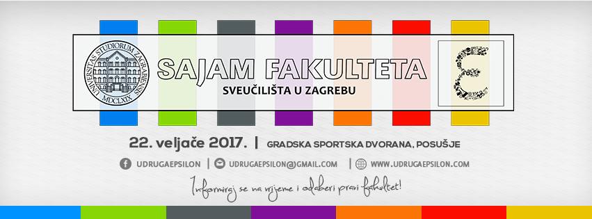 Udruga Epsilon najavljuje sajam fakulteta  Sveučilišta u Zagrebu