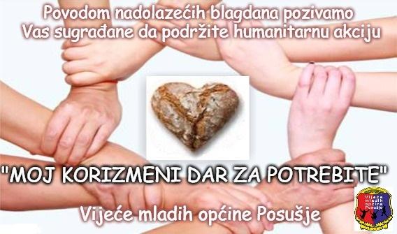 Vijeće mladih općine Posušje za potrebite