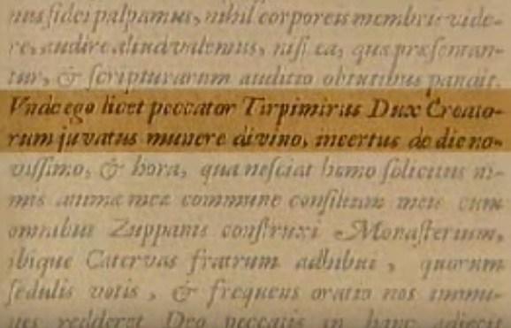 4. ožujka 852. Trpimirova darovnica – krsni list države naroda Hrvata!