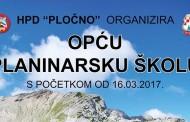 Najava: Opća planinarska škola 2017
