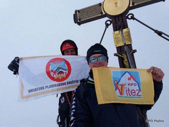 Član HPD-a Pločno na najvišem vrhu Austrije (Großglockner, 3798 mnv)