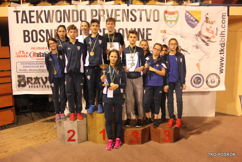 Taekwondo prvenstvo BiH: Za Poskoke ukupno 32 medalje