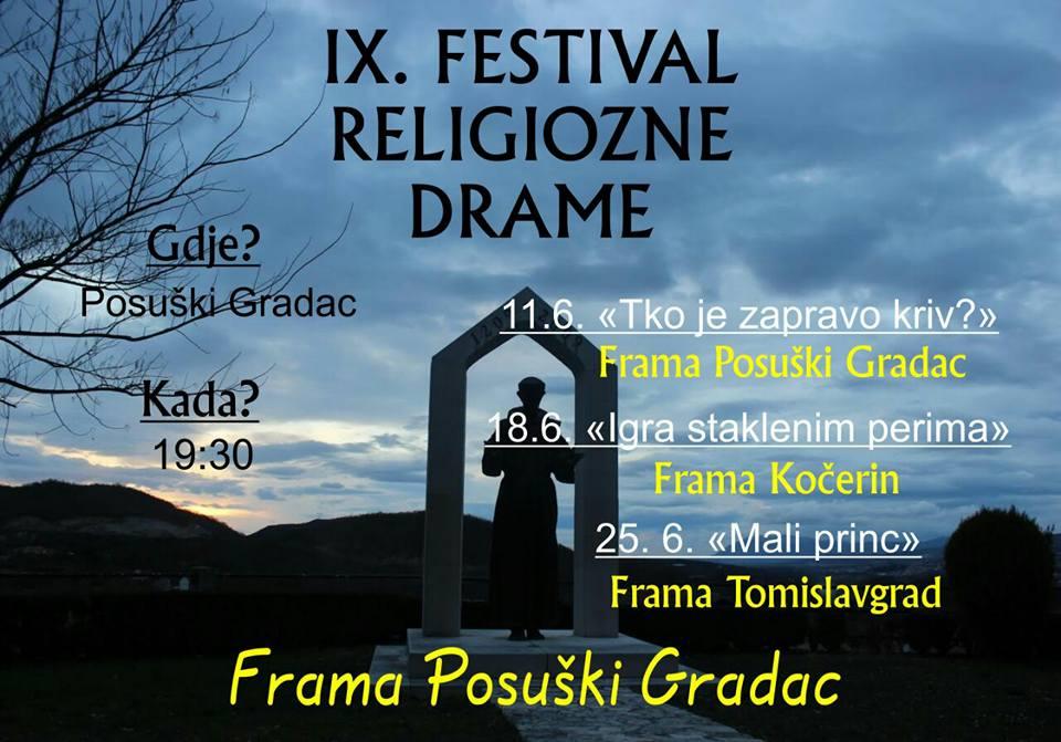 POSUŠKI GRADAC: 9. Festival religiozne drame