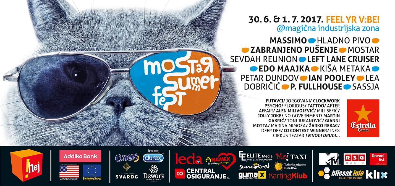 MOSTAR SUMMER FEST: Koncerti, cirkusanti, selfie toranj, karikature i još štošta