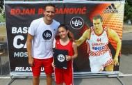 Eva Jukić na košarkaškom kampu Bojana Bogdanovića
