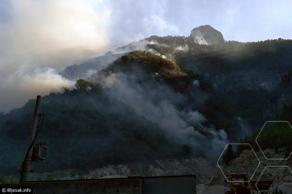 Požar na Čvrsnici se penje prema Risovcu