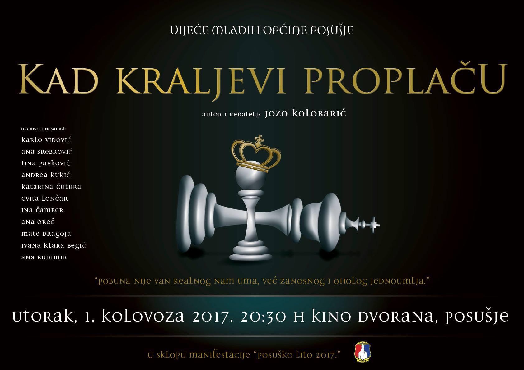 """POSUŠKO LITO: Najava predstave """"Kad kraljevi proplaču"""""""