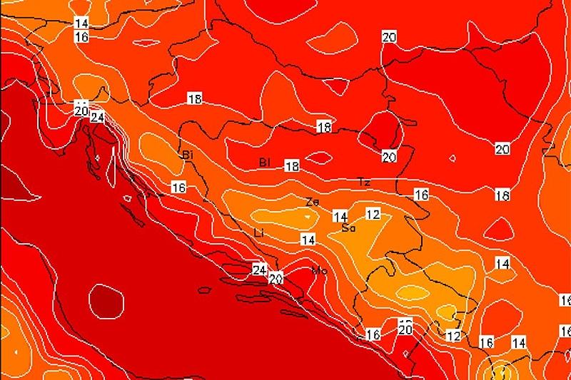 EKSTREMNE VRUĆINE: Upaljen meteoalarm, očekuje nas 'crven' početak tjedna
