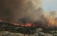 Požar u podnožju Čvrsnice prijeti kućama