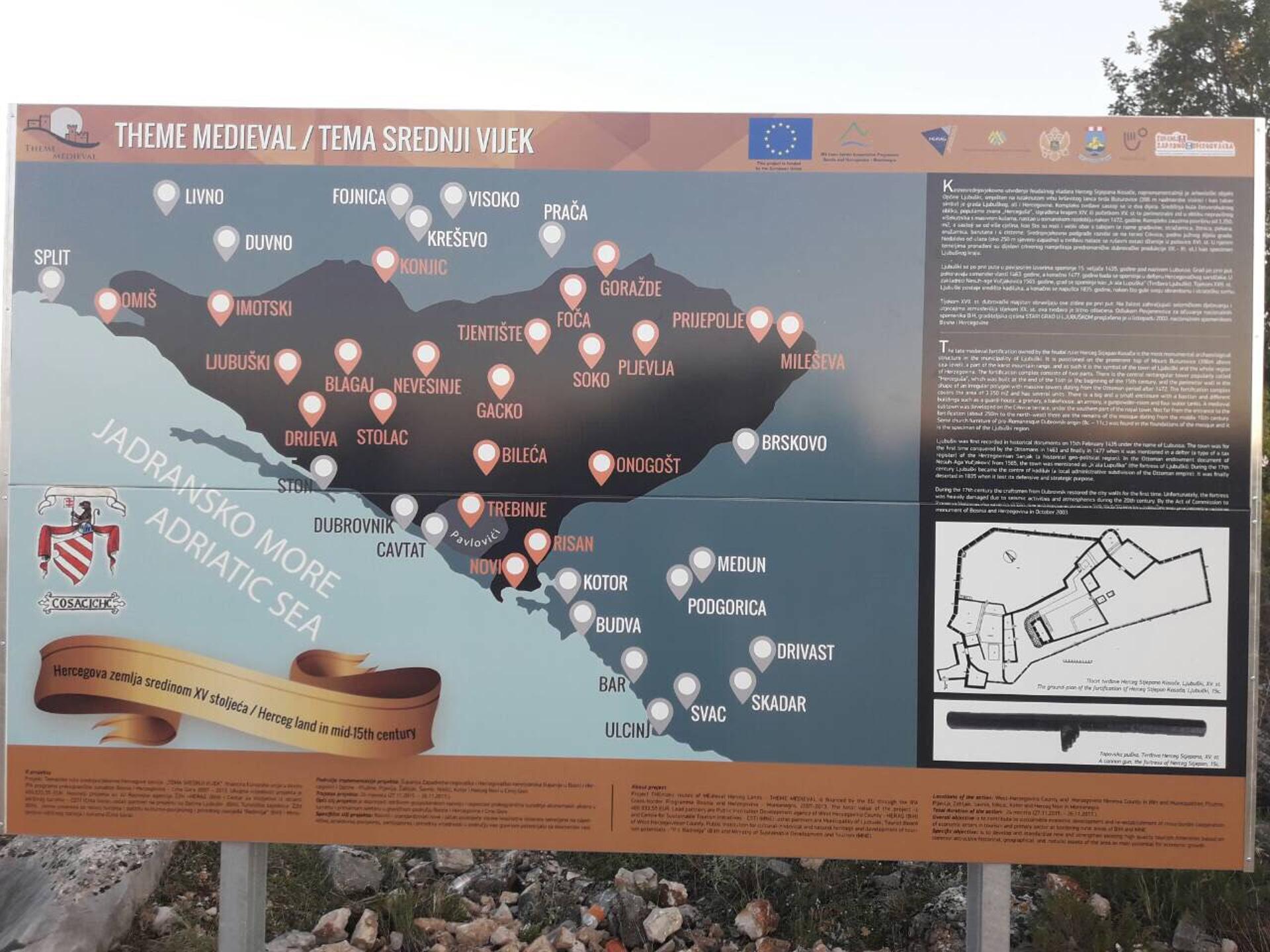 U Hercegovinu se postavlja 47 turističkih putokaza, 20 u ZH županiji i 27 u HN županiji