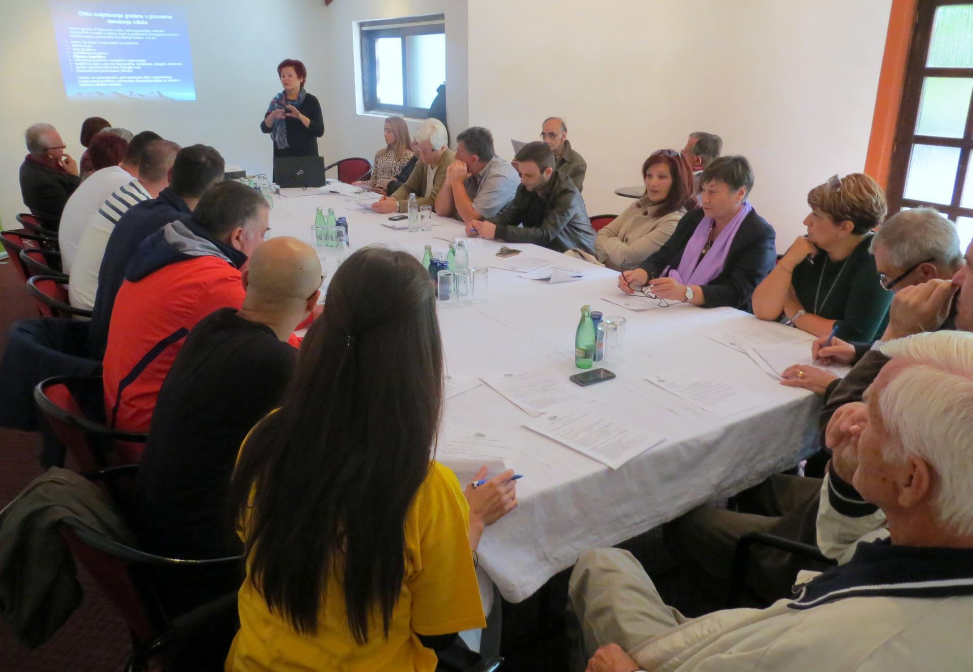 Obuka predstavnika Mjesnih zajednica iz Livna, Tomislavgrada, Posušja i Gruda