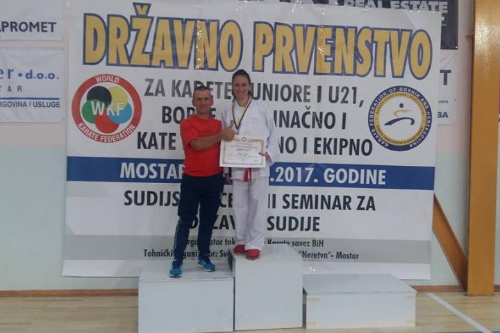 Ivana Galić iz Posušja izborila plasman na Svjetsko prvenstvo u karateu