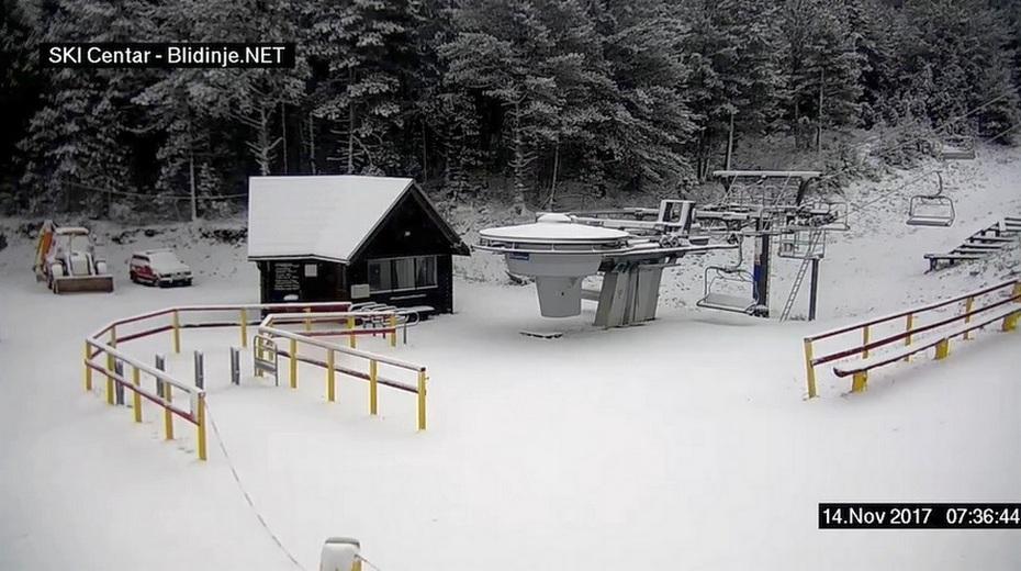 Snijeg zabijelio Blidinje, dobar uvod u zimsku sezonu