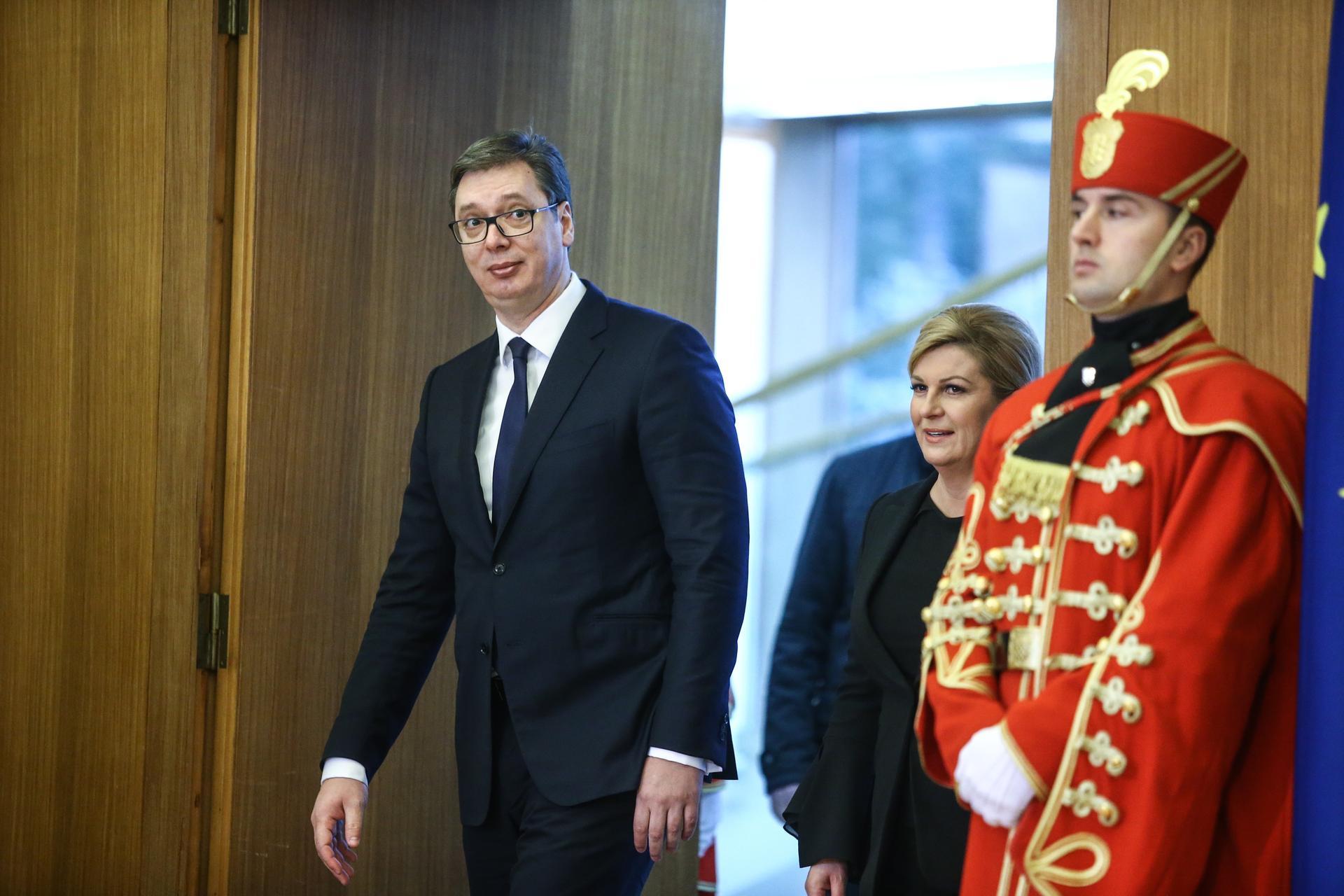 Grabar Kitarović: Složili smo se oko nekoliko otvorenih pitanja; Vučić: Čestitam vam na hrabrosti što ste me pozvali