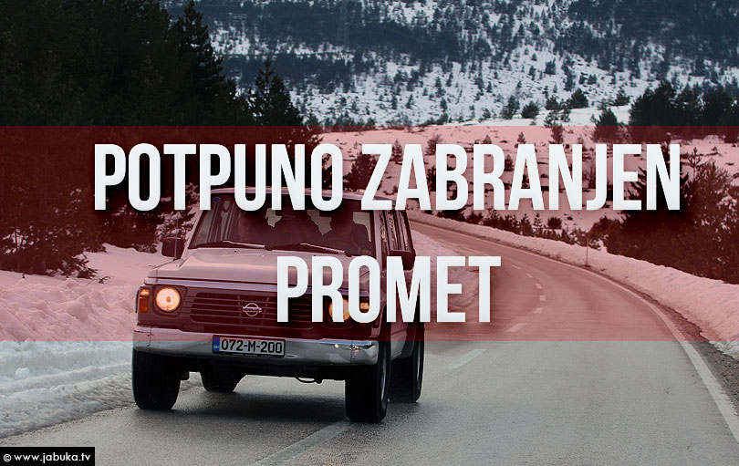 Obustava prometa na R-419 Rakitno_Blidinje, M-15 Livno-Šujica i Glamoč-Mlinište zbog snijega