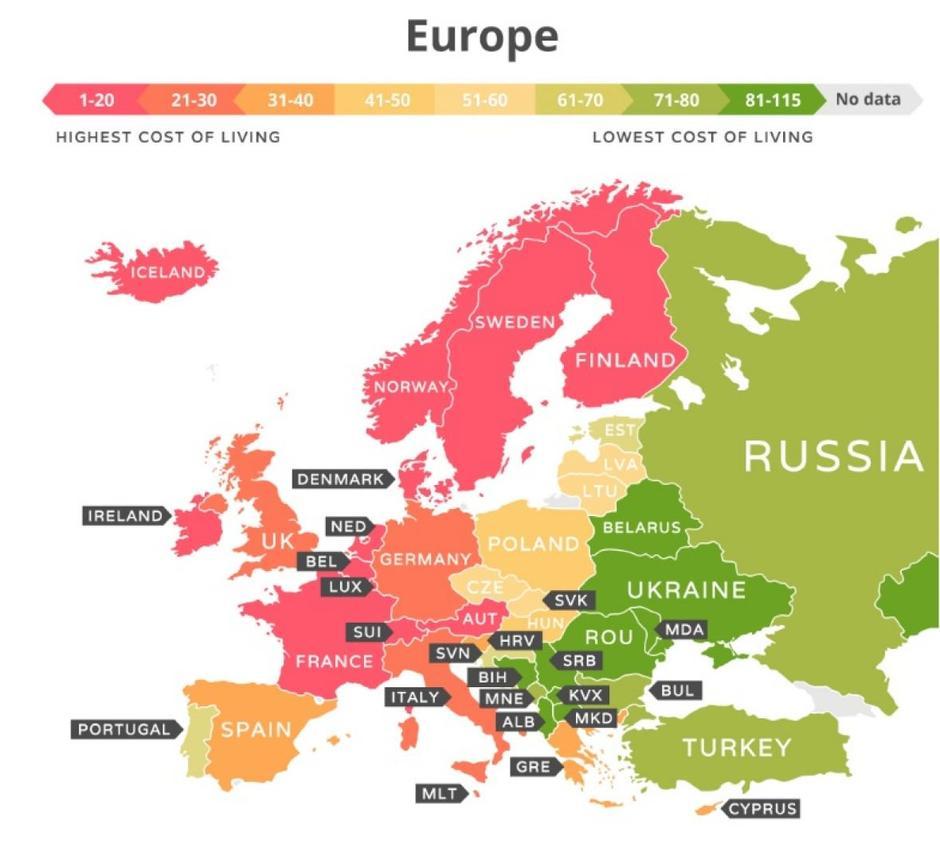 Ovo je 10 najjeftinijih i najskupljih zemalja za život, evo gdje je BiH