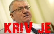 Šešelj osuđen i za zločine nad Hrvatima u Vojvodini