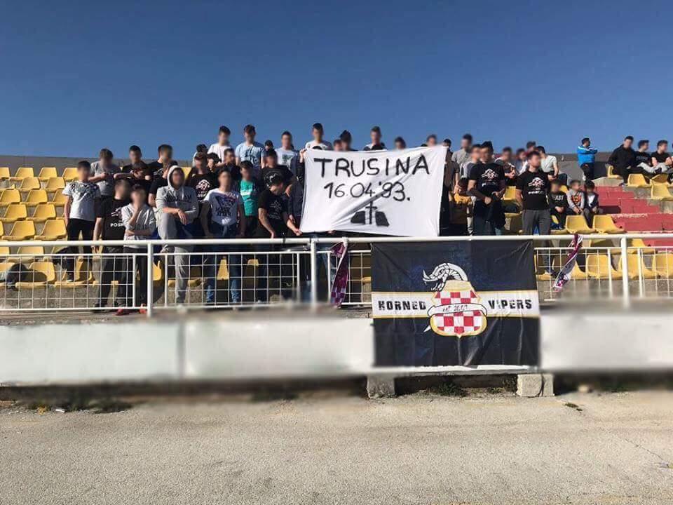 POSKOCI: Navijači odali počast žrtvama Trusine i zatražili promjenu imena stadiona u Buturović Polju