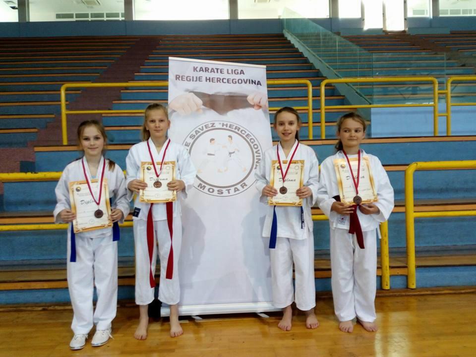 Šest medalja za karate klub Posušje u Ljubuškom