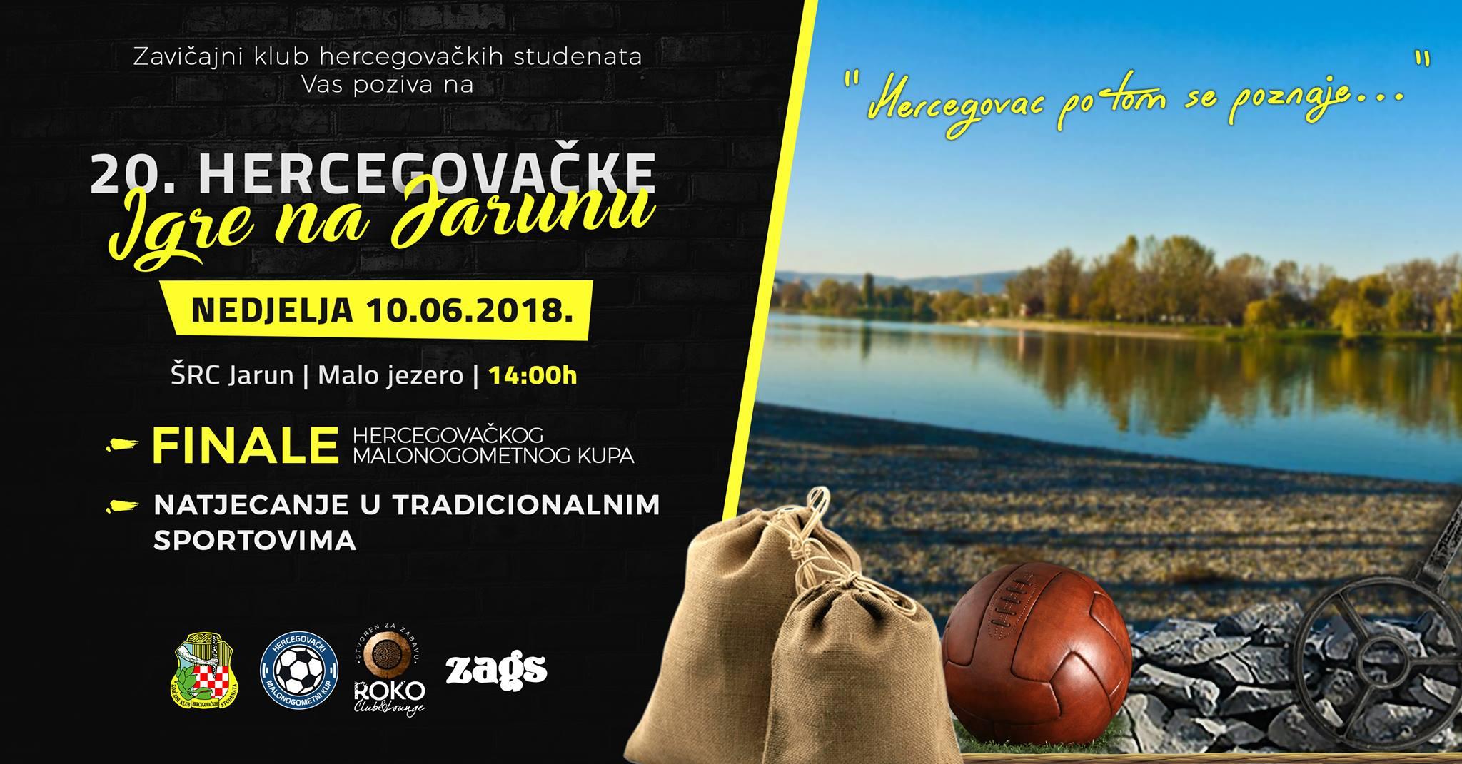 ZKHS organizira 20. po redu Hercegovačke igre na Jarunu