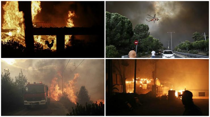 U požarima u Grčkoj poginule 74 osobe
