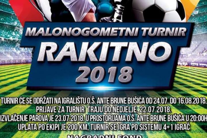 Najava: MALONOGOMETNI TURNIR RAKITNO 2018