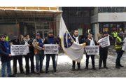 Fašisti Sarajeva s ratnim zastavama na prosvjedu protiv Hrvatske i Hrvata u BiH