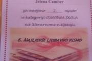 """JELENA ČAMBER, UČENICA OŠ FRANICA DALL""""ERA VIR, OSVOJILA DRUGO MJESTO NA LITERARNOM NATJEČAJU U ZAGREBU"""